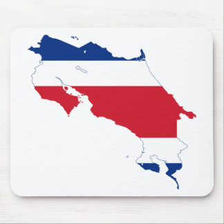 Costa Rica Flag map CR Mouse Pad