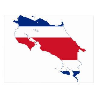 Costa Rica Flag map CR Postcard