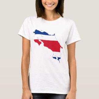 Costa Rica Flag map CR T-Shirt