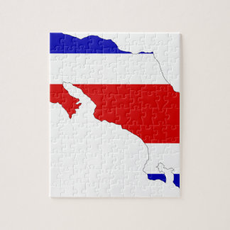 Costa Rica Flag Map Jigsaw Puzzle
