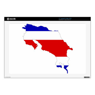 Costa Rica Flag Map Laptop Decals