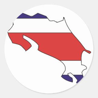 Costa Rica flag map Sticker