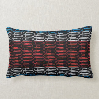 Costa Rica Flag of Paperclips Throw Pillows