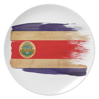 Costa Rica Flag Plates