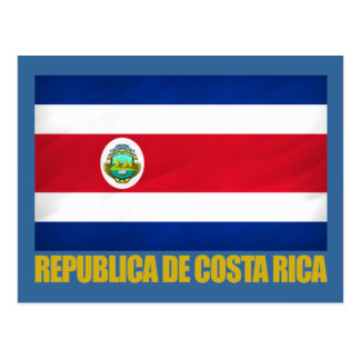 Costa Rica Flag Post Card