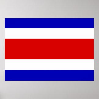 Costa Rica Flag Print