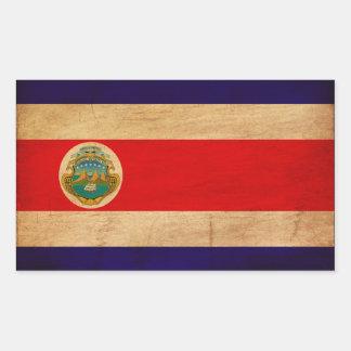 Costa Rica Flag Rectangular Sticker