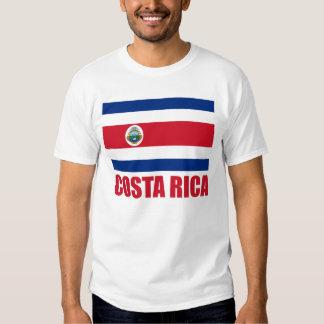 Costa Rica Flag Red Text Light Tee Shirt