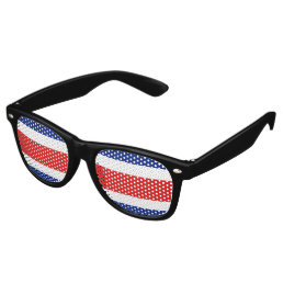 Costa Rica Flag Retro Sunglasses