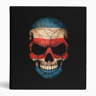 Costa Rica Flag Skull on Black Binders