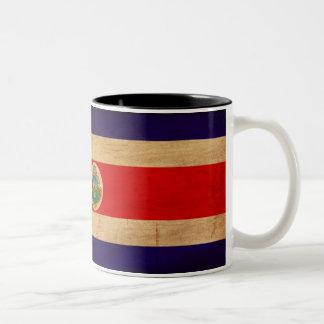 Costa Rica Flag Two-Tone Coffee Mug