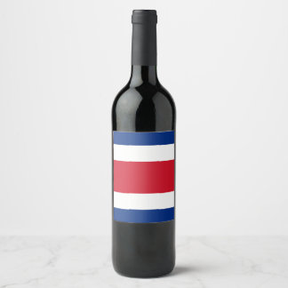 Costa Rica Flag Wine Label