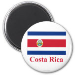 Costa Rica Flag with Name 2 Inch Round Magnet