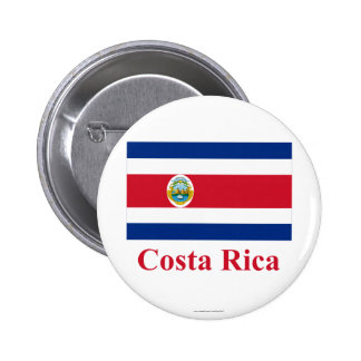 Costa Rica Flag with Name Pin