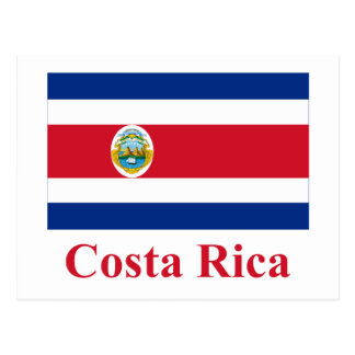Costa Rica Flag with Name Postcard