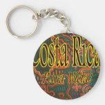Costa Rica Folk Art Pura Vida Keychain