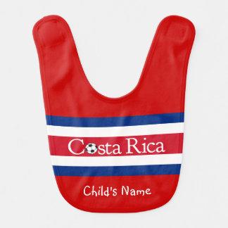 Costa Rica Football Baby Bib
