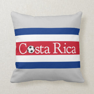 Costa Rica Football Throw Pillow