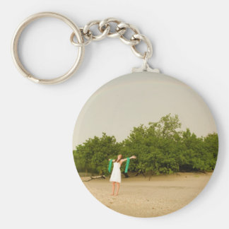 Costa Rica Girl Keychain