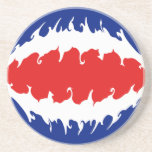 Costa Rica Gnarly Flag Beverage Coasters