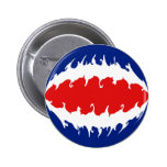 Costa Rica Gnarly Flag Pin