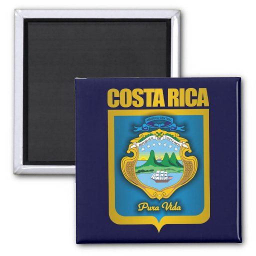 """""""Costa Rica Gold"""" Gift Ideas 2 Inch Square Magnet"""