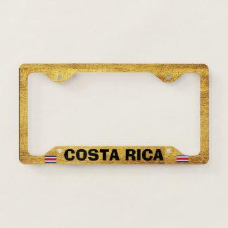 Costa Rica Golden Background License Plate Frame