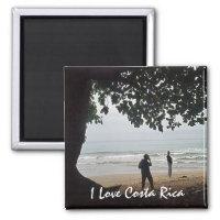 Costa Rica Love - On the Beach Beautiful Cahuita Magnet