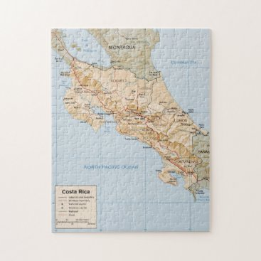 Costa Rica Map (1987) Jigsaw Puzzle