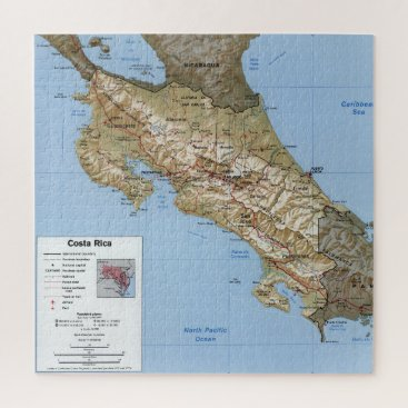 Costa Rica Map (1991) Jigsaw Puzzle