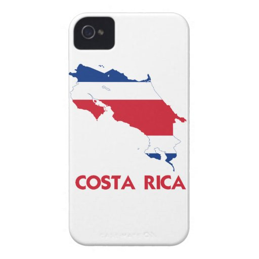 COSTA RICA MAP BLACKBERRY CASE