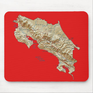 Costa Rica Map Mousepad