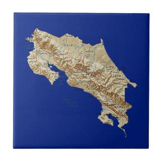 Costa Rica Map Tile