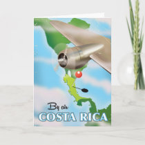 Costa Rica Map vintage travel poster Holiday Card