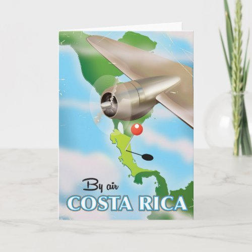Costa Rica Map vintage travel poster