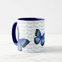 Costa Rica Morpho Butterfly Mug