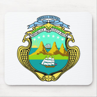 Costa Rica Official Coat Of Arms Heraldry Symbol Mouse Pad