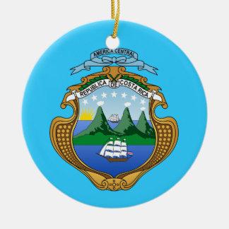 COSTA RICA * ornamento de encargo del navidad Adorno Navideño Redondo De Cerámica