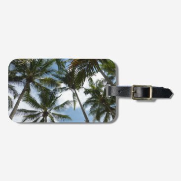 Beach Themed Costa Rica Palm Trees Beach Luggage Tag