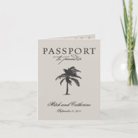 Costa Rica Passport Wedding Invitation