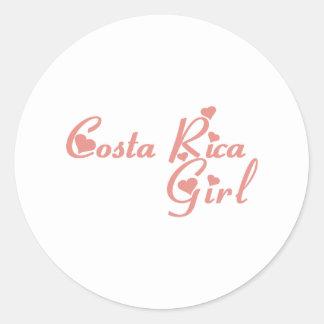 Costa Rica Pegatinas Redondas
