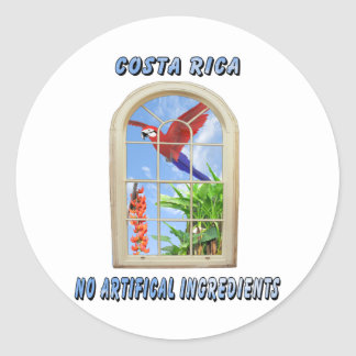 Costa Rica Pegatina Redonda