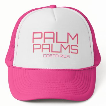 Beach Themed Costa Rica Pink Palm Palms Beach Souvenir Trucker Hat