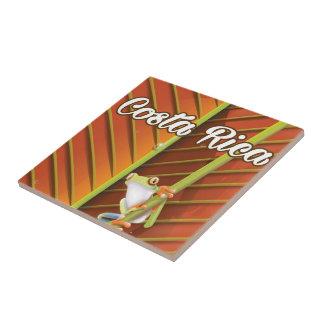 Costa Rica Poison frog travel poster Ceramic Tile