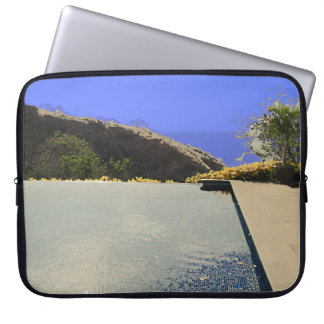Costa Rica pool view HFPHOT26 Computer Sleeve