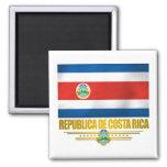 """""""Costa Rica Pride"""" Gift Ideas 2 Inch Square Magnet"""