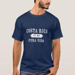 Costa Rica Pura Vida Est. 1821 T-shirt