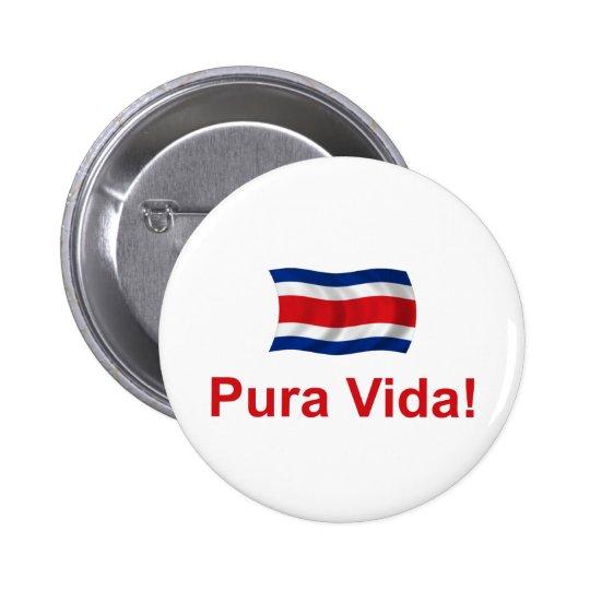 ¡Costa Rica Pura Vida! Pin Redondo De 2 Pulgadas