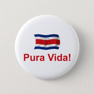 Costa Rica Pura Vida! Pinback Button