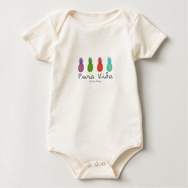 Toddler & Baby themed Costa Rica Pura Vida Pineapples Baby Baby Bodysuit